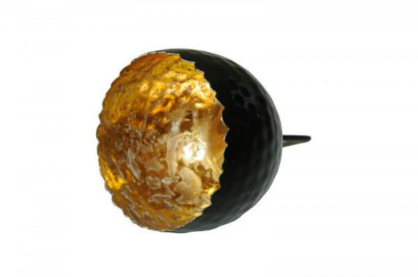 Sphärenlicht D8L5/11cm a.Stab, schw/gold