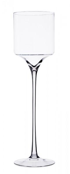 Glas Schale a.Fuß H55cm, klar
