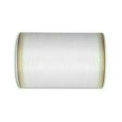Kranzband 6693/200mm 25m Moire Goldrand, 611 weiß