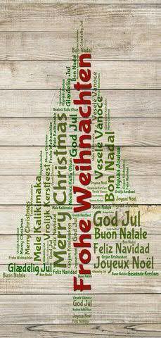 Banner 90x180cm Frohe Weihnachten