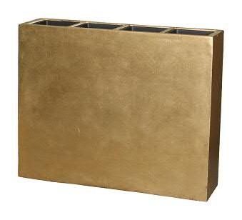 Raumteiler FS125 D93x25cm H76cm 4 Eins, gold