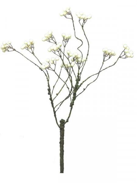 Beeren Zweig 65cm, creme