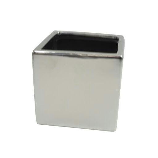 Kübel Keramik D14H13cm, silber