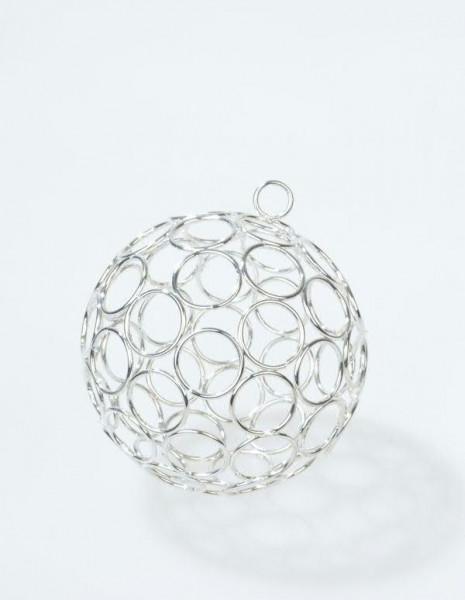 Draht Ball D10cm zum Hängen, silber
