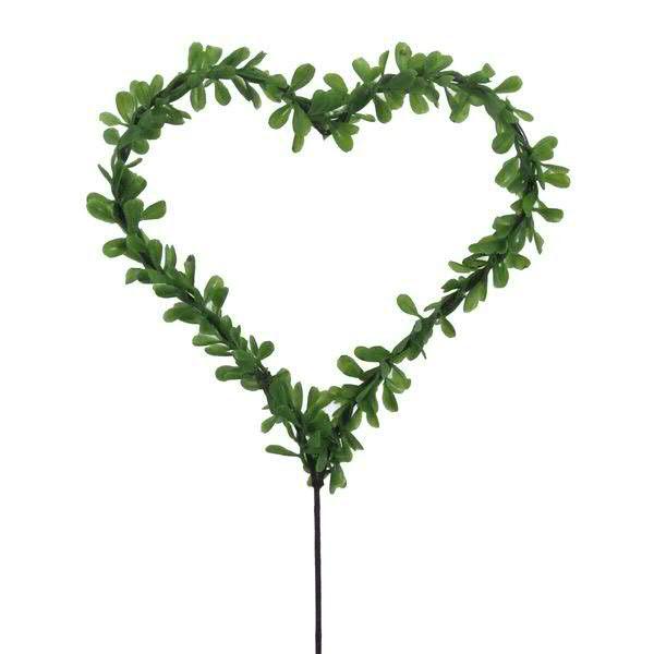 Blätter Herz SP 28cm m.Stab