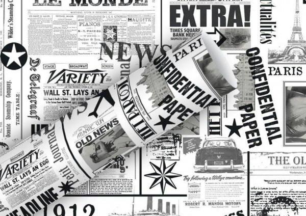 Geschenkpapier 2mx70cm News