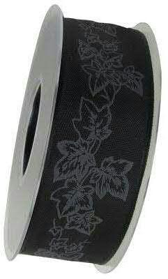 Band X602/40mm 20m Efeu, schw/silbe