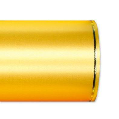 Kranzband 2501/100mm 25m Satin Goldrand, 712 h.gelb