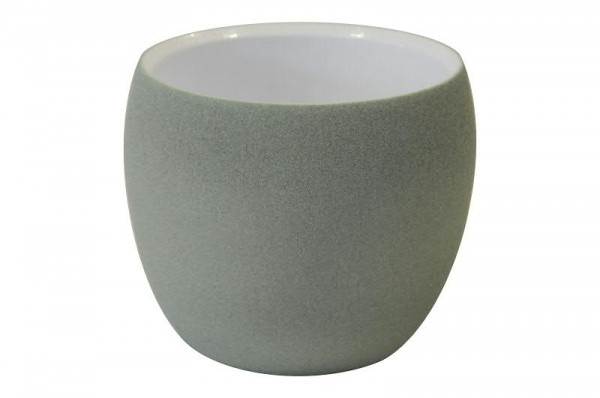 Kübel Keramik 660/17cm, grün-weiß