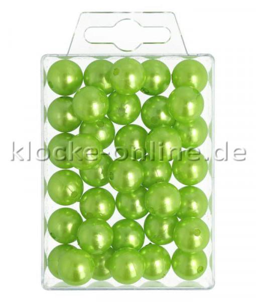 Perlen 14mm 35St., apfelgrün