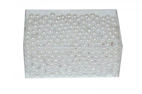 Perlen 10mm 500g, weiß
