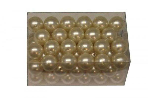 Perlen 24mm 500g, creme