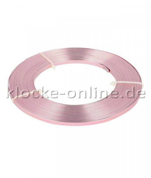 Alu Flachdraht 5mm 10m, rosa