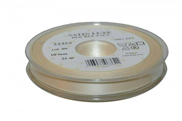 Band Satin 22355/10mm 25m, 009 creme