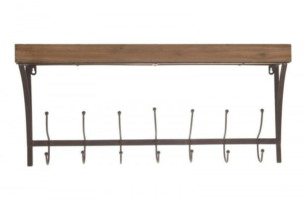 Garderobe Holz/Metall 73x15x34cm