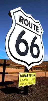 Banner 90x180cm Route 66