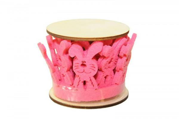 Filz Hasenband SP H5xL100cm, pink