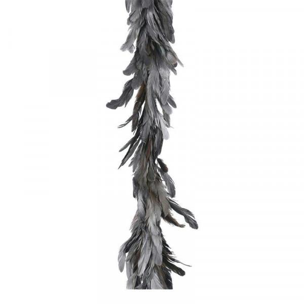 Girlande Federn L160B16cm, silber