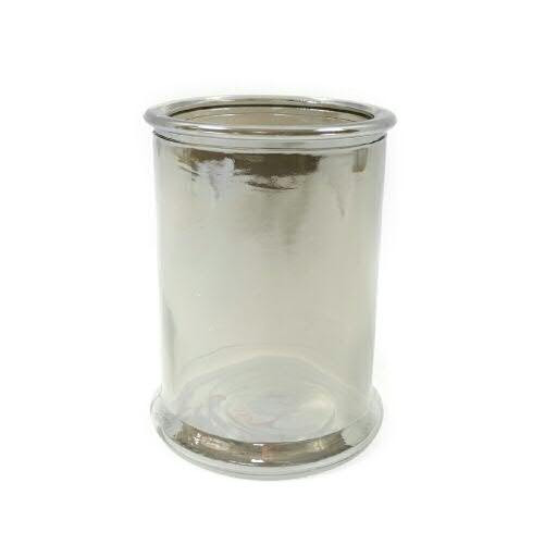 Glas Vase D13H17cm metallic, grau