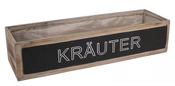 Krauterkiste Holz 45x13x10cm Eckig Braun Wash Holz Kisten