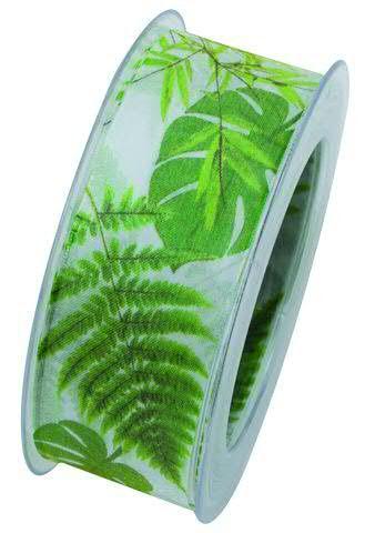 Band X940/40mm 20m Blätter, grün