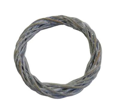 Weiden Kranz D20H3cm, weiß wash