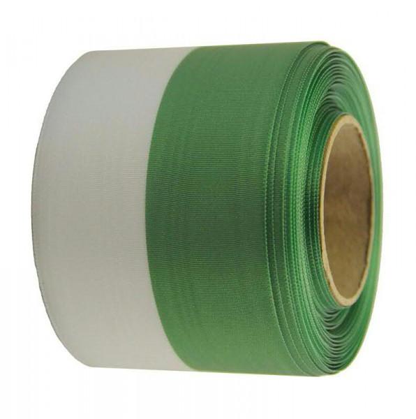 Kranzband 1070/075mm 25m Moire, grün/weiß