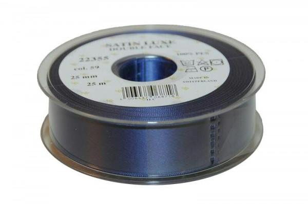 Band Satin 22355/25mm 25m, 059 m.blau