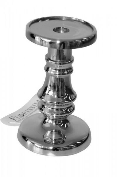 Kerzenleuchter Metall H17cm, silber