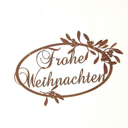 Rost W Kranz Frohe Weihnachten 50cm oval Mistel