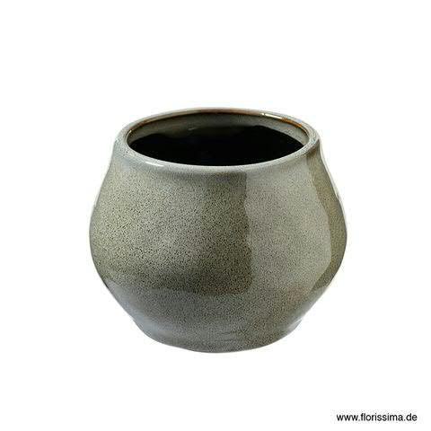 Kübel Keramik D12H9,5cm, grau