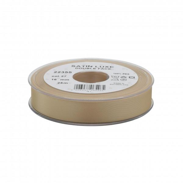 Band Satin 22355/16mm 25m, 027 sand