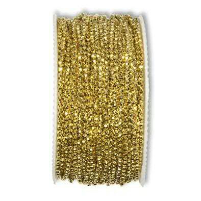 Perlenkette 16213/2mm 50m, 311 gold