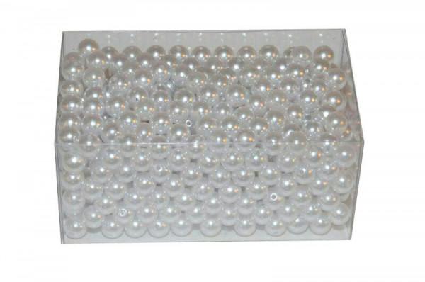 Perlen 12mm 500g, weiß