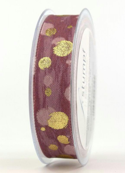 Band 1321/25mm 15m Punkte, rosa-gold