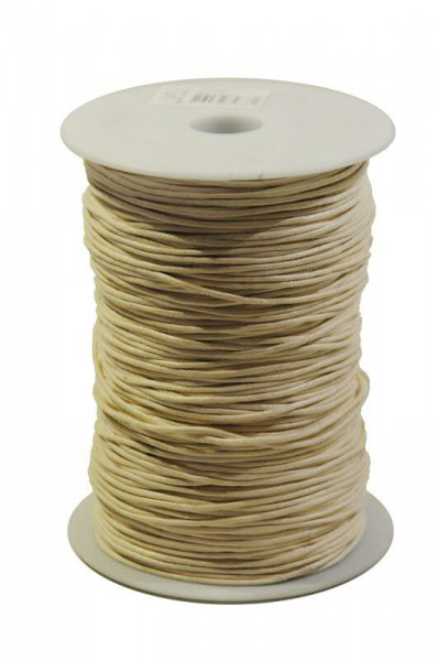 Kordel 1117/1,5mm 200m Wax cord, 70 creme