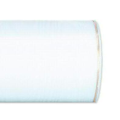 Kranzband 4421/100mm 25m Moire Goldrand, 211 weiß