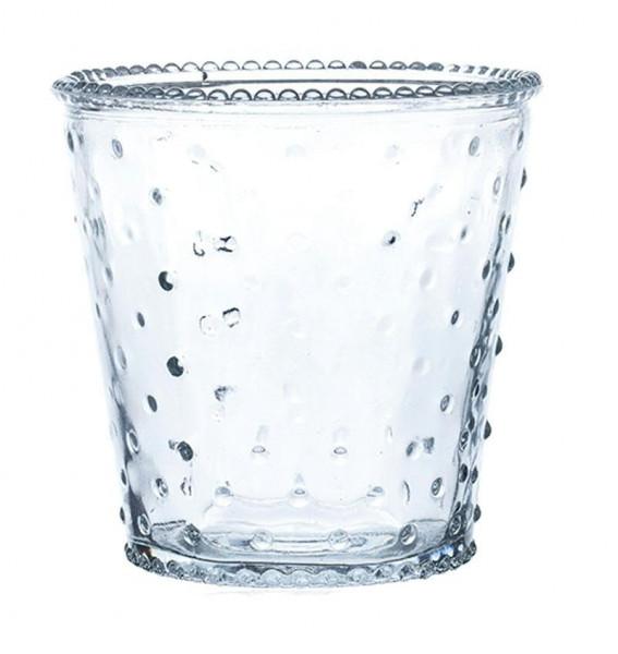 Glas Vase H13,5D13cm konisch, klar