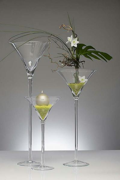 Glas D25H50cm Martini, klar