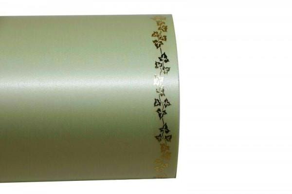 Kranzband 06738/200mm 25m Satin Efeurand gold, 070 lindgr