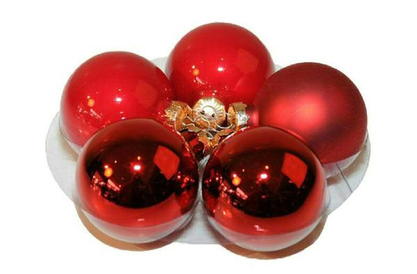 Weihnachtskugel 5cm 40St., rot