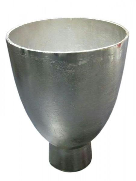 Vase Alu antik D20H28cm a.Fuß, silber