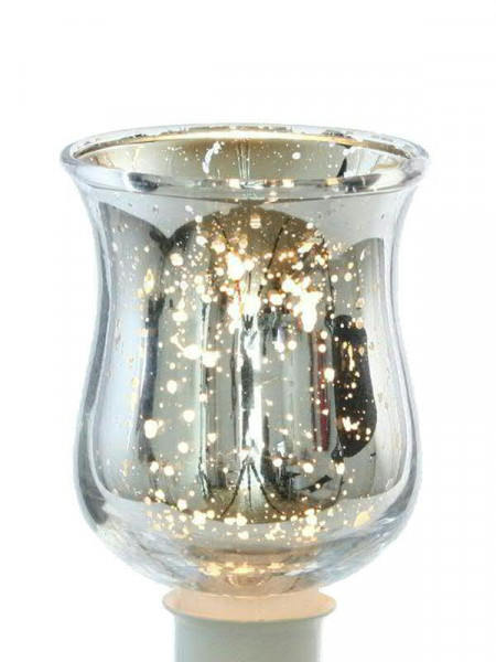 Glas Partylicht D5,5H8cm, Bauernsilb