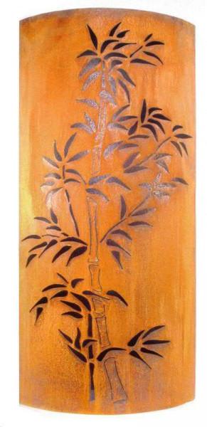 Rost Säule Bambusmotiv H140cm