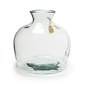 Glas Vase H35D34cm, klar