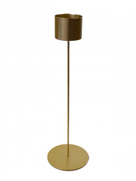 Kerzenständer Metall D6,5H40cm, gold