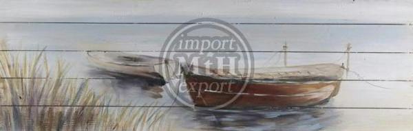 Bild Holz 150x50x5cm, Boot 1