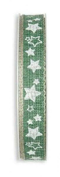 Band 709/15mm 15m Sterne, 32 grün