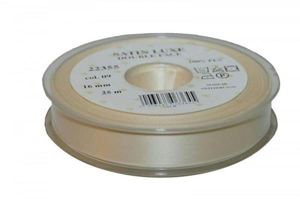 Band Satin 22355/16mm 25m, 009 creme