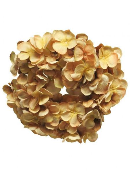 Hortensien Kranz 26cm, pfirsich